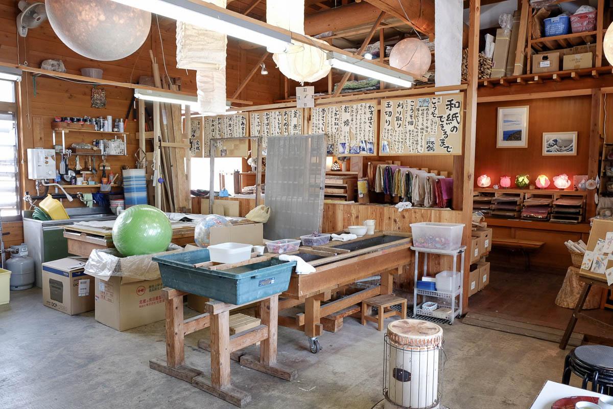 L'atelier-boutique Kamisuki-ya de Ueno-san